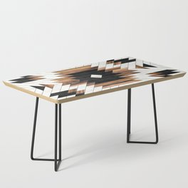 Urban Tribal Pattern No.5 - Aztec - Concrete and Wood Coffee Table