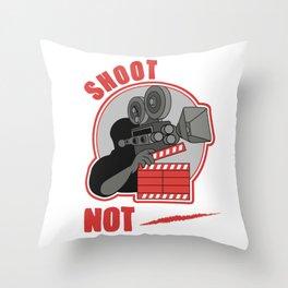 Shoot Film Not Guns Pacifist Filmmaker Director Throw Pillow