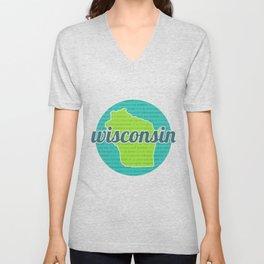 Words of Wisconsin Unisex V-Neck