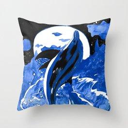 Dolphin Dance  Throw Pillow