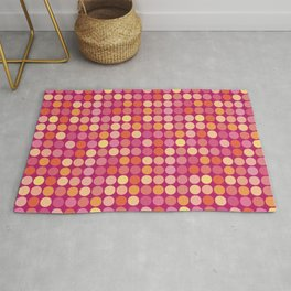 Small Polka Dots on Plum Rug