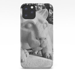 Penn State University Nittany Lion Statue Black White Side iPhone Case