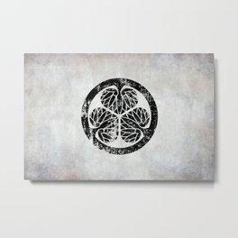 Tokugawa Clan · Black Mon · Distressed Metal Print