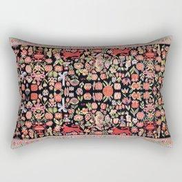 Täcke Antique Swedish Skåne Wedding Blanket Print Rectangular Pillow