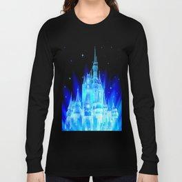 Blue Ice Frozen Enchanted Castle Long Sleeve T-shirt
