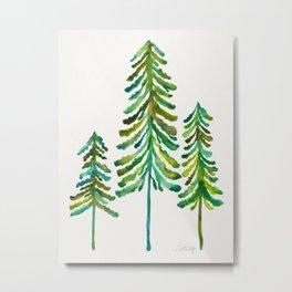 Pine Trees – Green Palette Metal Print