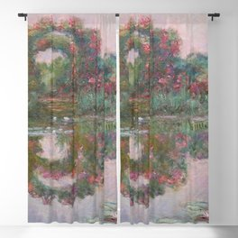 FLOWERING ARCHES IN GIVERNY - MONET  Blackout Curtain