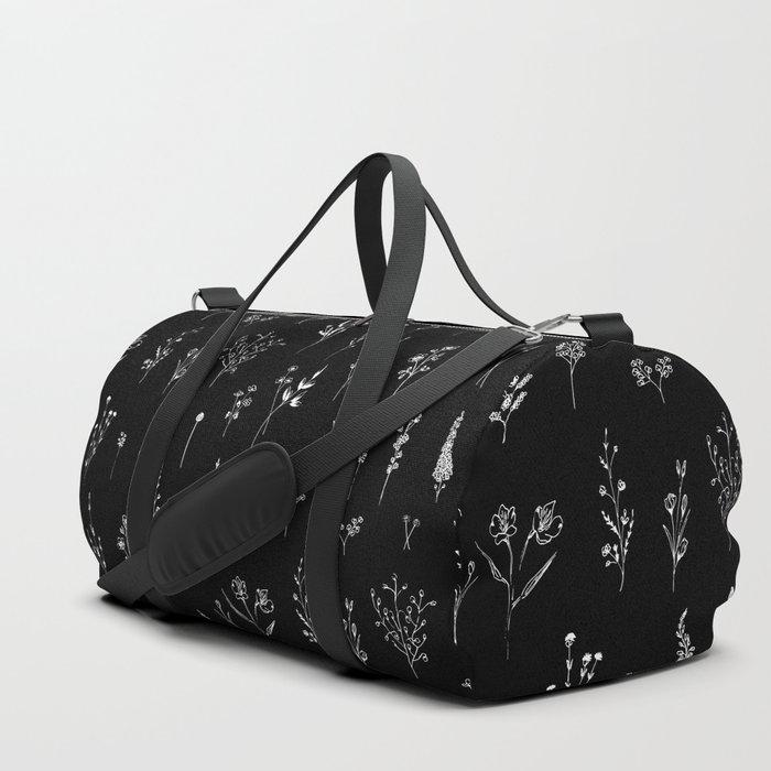 Black wildflowers Sporttaschen