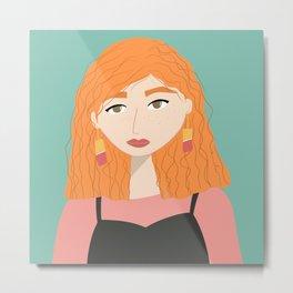 CINDY | Female Digital Illustration Metal Print