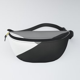 Black and White Angles Fanny Pack