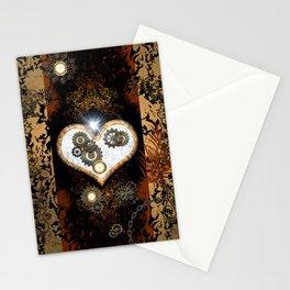 Steampunk, beautiful heart Stationery Cards