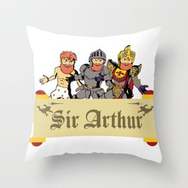 Sir Arthur Throw Pillow