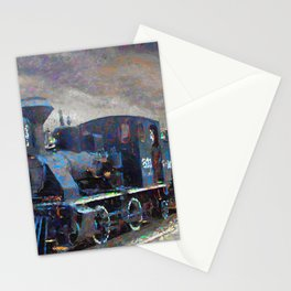 Old steam locomotives Stationery Cards