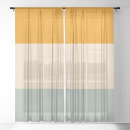Heracles - Minimal Summer Retro Stripes Sheer Curtain