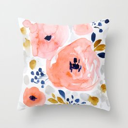 Genevieve Floral Throw Pillow