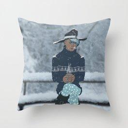 Sea Witch - A Season's Greeting Throw Pillow