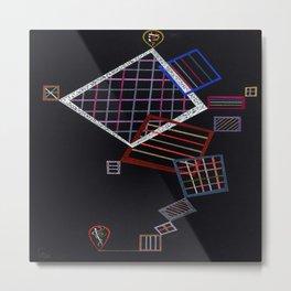 Wassily Kandinsky Climbing Grids Metal Print