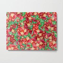 Little Red Flower Garden Metal Print