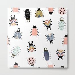 Scandinavian Bugs Metal Print