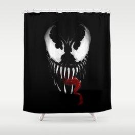 Venom, Spider man Enemie Shower Curtain