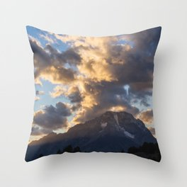 Sunset over the Mountain Throw Pillow