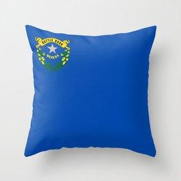 flag nevada,america,usa,silver state,sagebrush, battle born,nevadan,Las vegas,west,desert Throw Pillow
