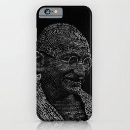 Mahatma Gandhi Typography portrait iPhone Case