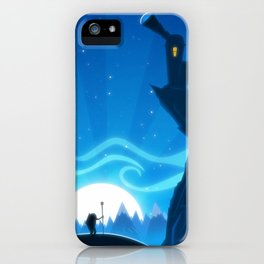 Castle on the Blue Mountain iPhone Case