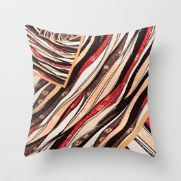 Color Pattern Throw Pillow