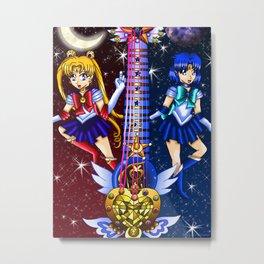 Fusion Sailor Moon Guitar #2 - Sailor Moon & Sailor Mercury Metal Print