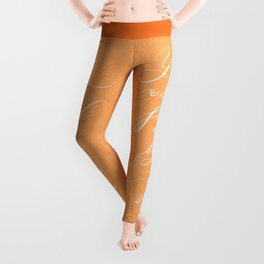 You will find me by the sea (Orange) Leggings