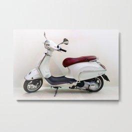 Vespa Motorbike Metal Print