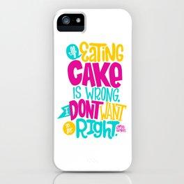 Eating Cake iPhone Case