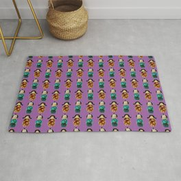 Kokeshi  pattern Rug