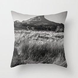 The Benwiskin mountain i Sligo - Ireland Prints (RR 262) Throw Pillow