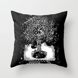 A tree in the dead of winter Throw Pillow