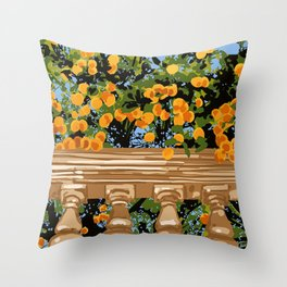 No matter what happens in the outside world, as long as you have faith in yourself, no darkness can touch you #painting Throw Pillow