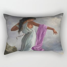 Death of the Tenth Muse Poetess Sappho at Leucadian cliffs by Miguel Carbonell Selva Rectangular Pillow