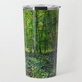 Vincent Van Gogh Trees and Undergrowth 1887 Travel Mug