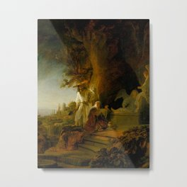 Christ and St Mary Magdalen at the Tomb Metal Print