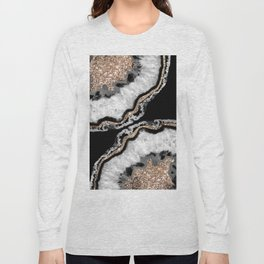 Yin Yang Agate Glitter Glam #8 #gem #decor #art #society6 Long Sleeve T-shirt