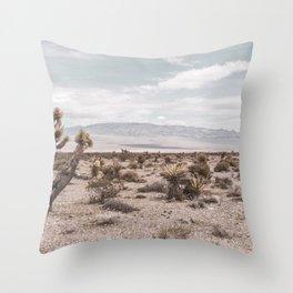 Vintage Desert Hombre // Cactus Cowboy Mojave Landscape Photograph Sunshine Hippie Mountain Decor Throw Pillow