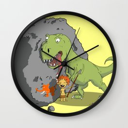 Prehistoric (and jurassic) smile Wall Clock
