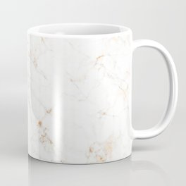 White Marble with Delicate Gold Veins Coffee Mug