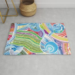 Happy Fork Shells Rug