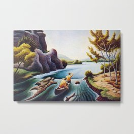 The Chute on the Buffalo River by Thomas Hart Benton Metal Print