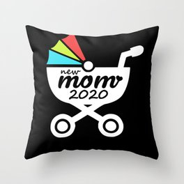 New Mom 2020 For Fresh Mothers Toddler Gift Idea Throw Pillow