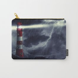 Stormy Sea and Lighthouse Carry-All Pouch