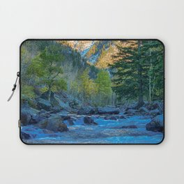 River Bed Sunrise // Long Exposure Landscape Photograph in the Colorado Rocky Mountains Laptop Sleeve