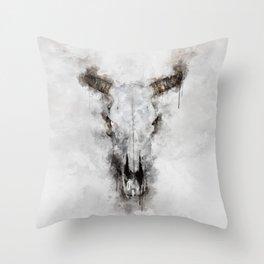 Animal skull Throw Pillow